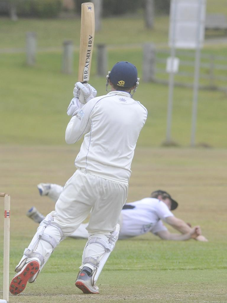 Doug Harris scored 30 off 34 balls for Harwood in the North Coast Cricket Council Premier League round six match between Harwood and Northern Districts at High Street Playing Fields in Woolgoolga on Saturday, 30th November, 2019. Photo: Bill North