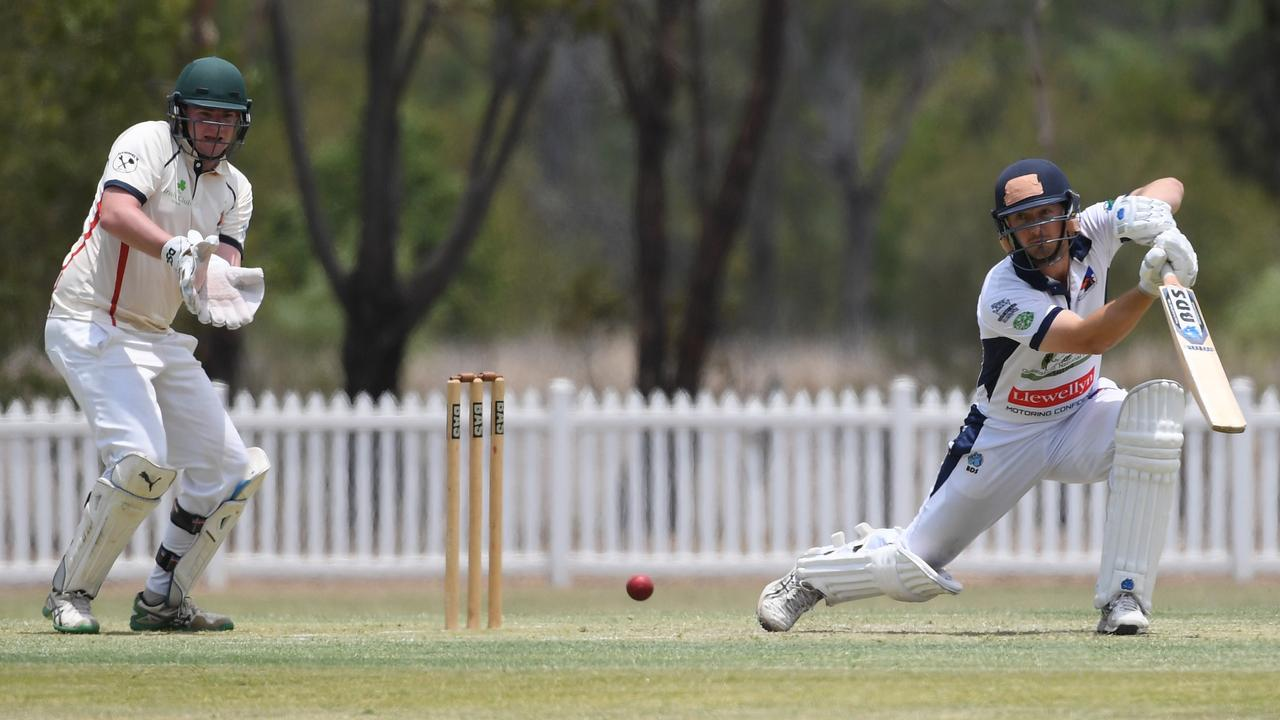 Laidley batsman Michael Topp topscored with 47 not out in the Ipswich Logan Hornets latest Queensland Premier Grade match against Northern Suburbs. Picture: Rob Williams
