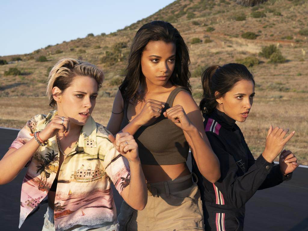 Kristen Stewart, Ella Balinska and Naomi Scott in the rebooted Charlie's Angels.