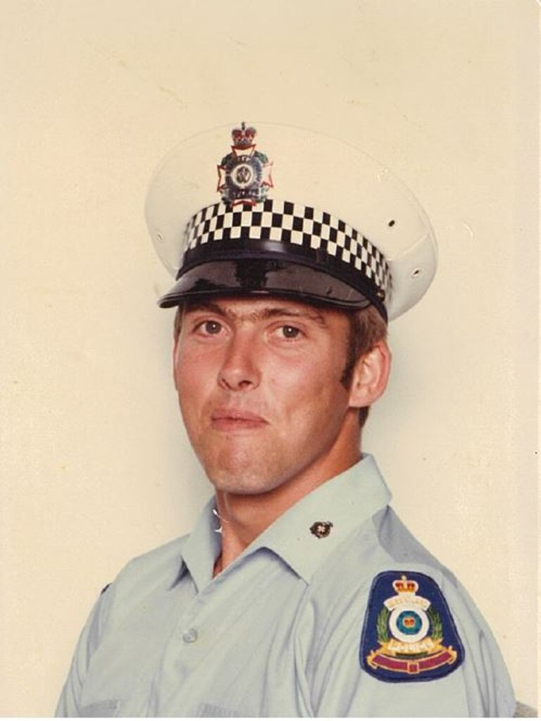 Hervey Bay police retiring sergeant Paul Jervis when he entered the police force.