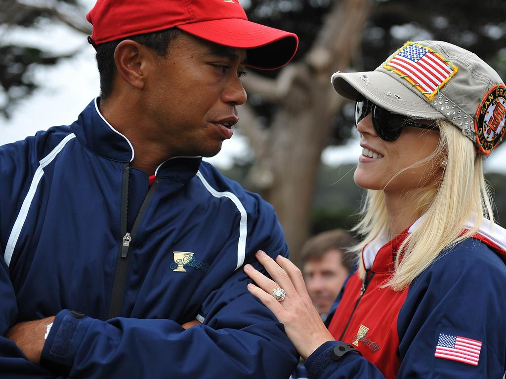 Woods and wife Elin had two children together. Picture: Supplied