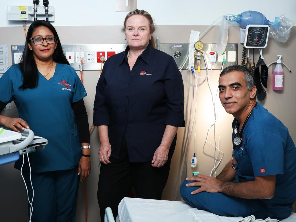 On the frontline: ED specialist Kavita Varshney, disaster team doctor Caren Friend and toxicologist Satish Mitter. Picture: Rohan Kelly