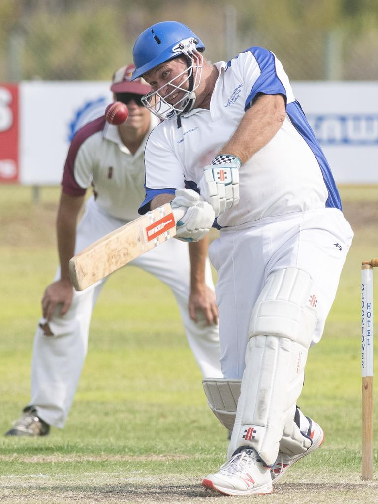 Matthew Pigg hits a free-hit six for Tucabia/Copmanhurst in Premier League match between Tucabia/Copmanhurst GI Hotel and Brothers at McKittrick Park