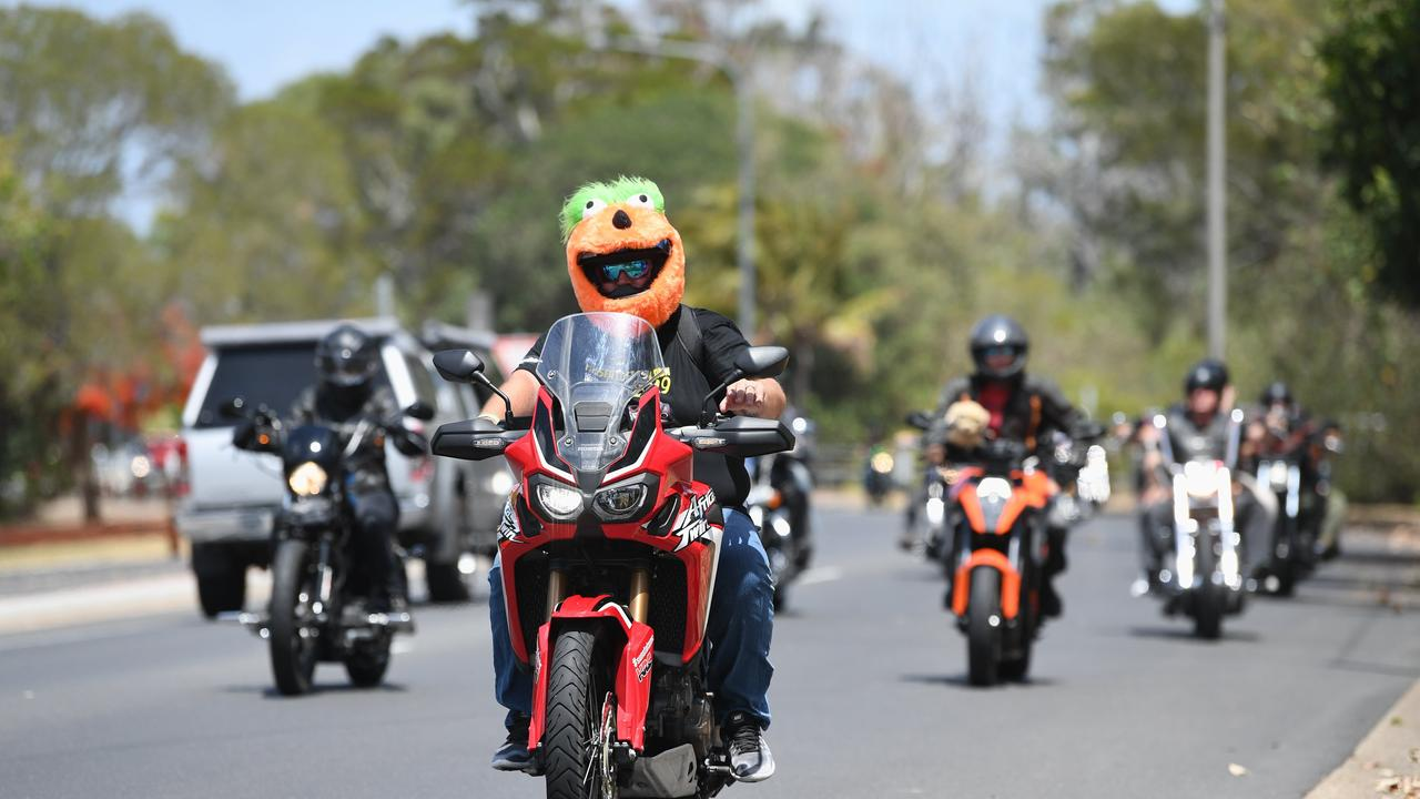 Fraser Coast Toy Run - Riders making their way down the Hervey Bay Esplanade. Photo: Cody Fox