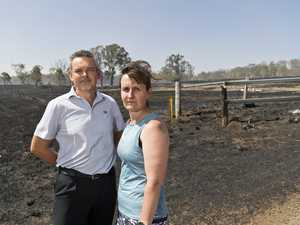 Family thanks fireys for saving home threatened by flames