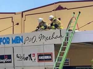Fire at menswear store in Bowen CBD