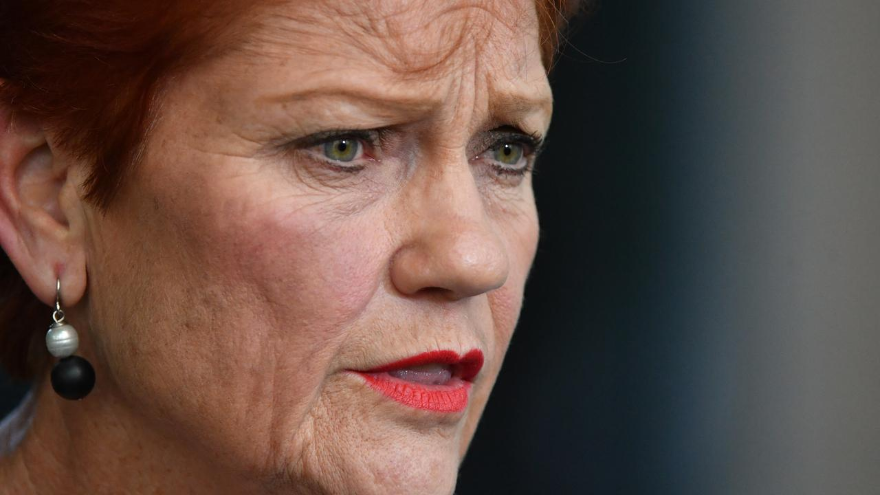"One Nation leader Senator Pauline Hanson attacked the government for ""believing its own hype"". Picture: AAP Image/Mick Tsikas"