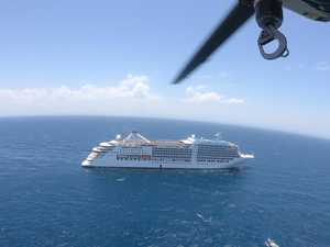 Tourist winched to hospital from cruise ship