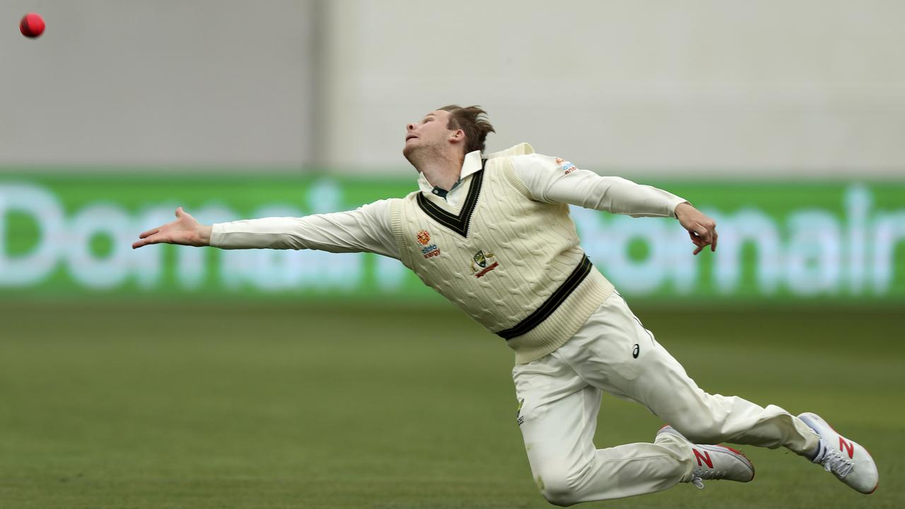Steve Smith was fare from his best. Picture: AP/James Elsby