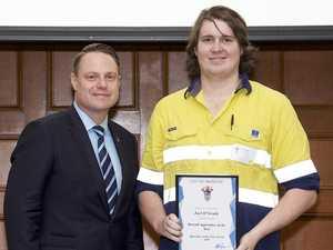 Auto apprentice presented with major award