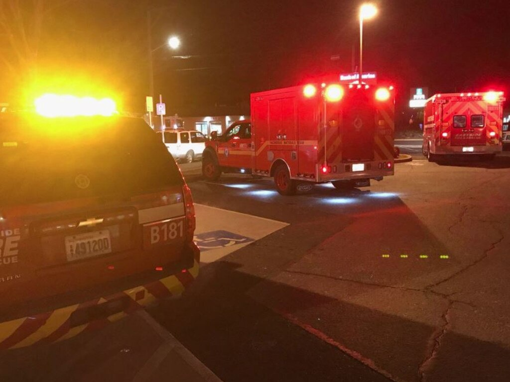 A misdelivered urine sample sparked a movie theatre evacuation in Washington state, according to officials. Picture: Twitter/Eastside Firefighters
