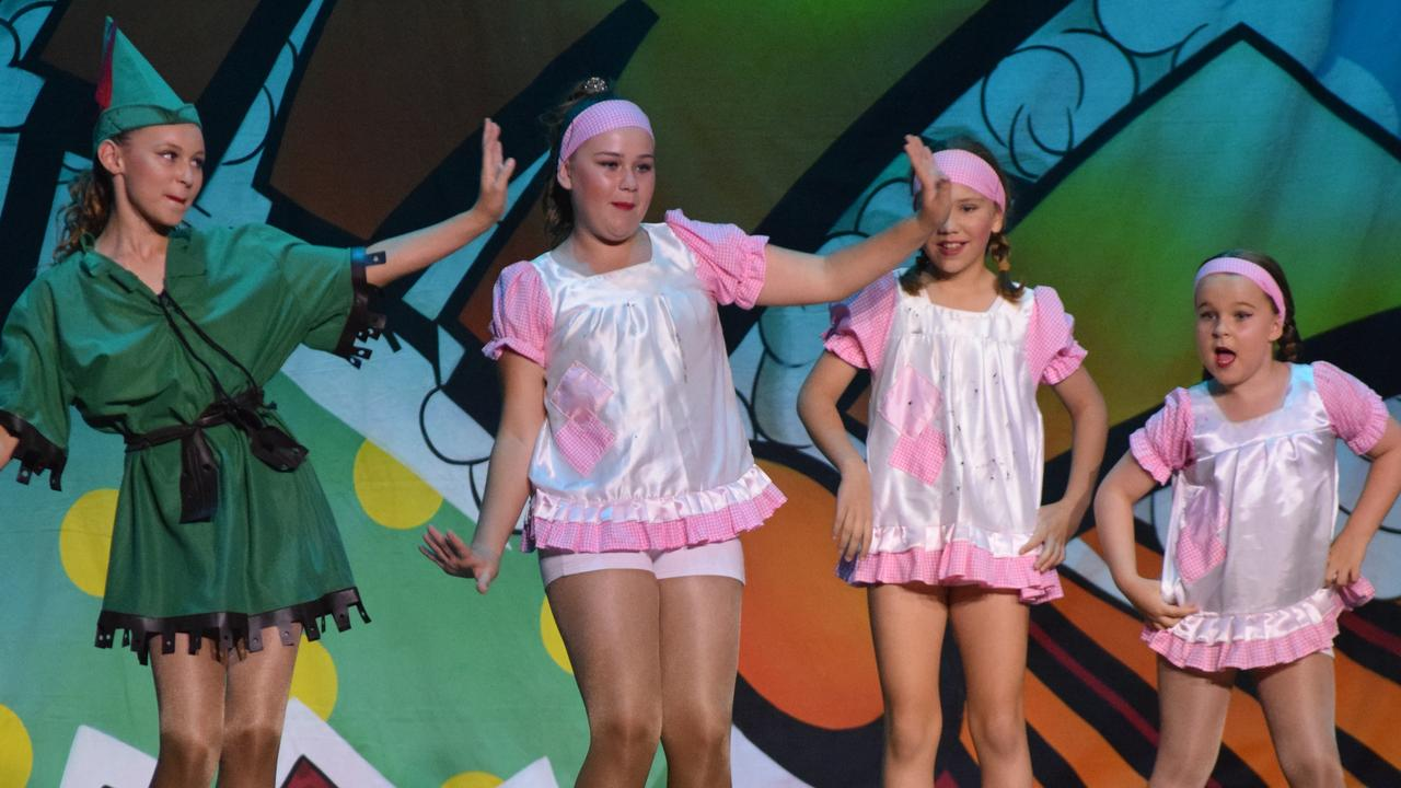 The 8-11 Years Musical Theatre group showed the audience they 'don't want to grow up' with this Peter Pan number.