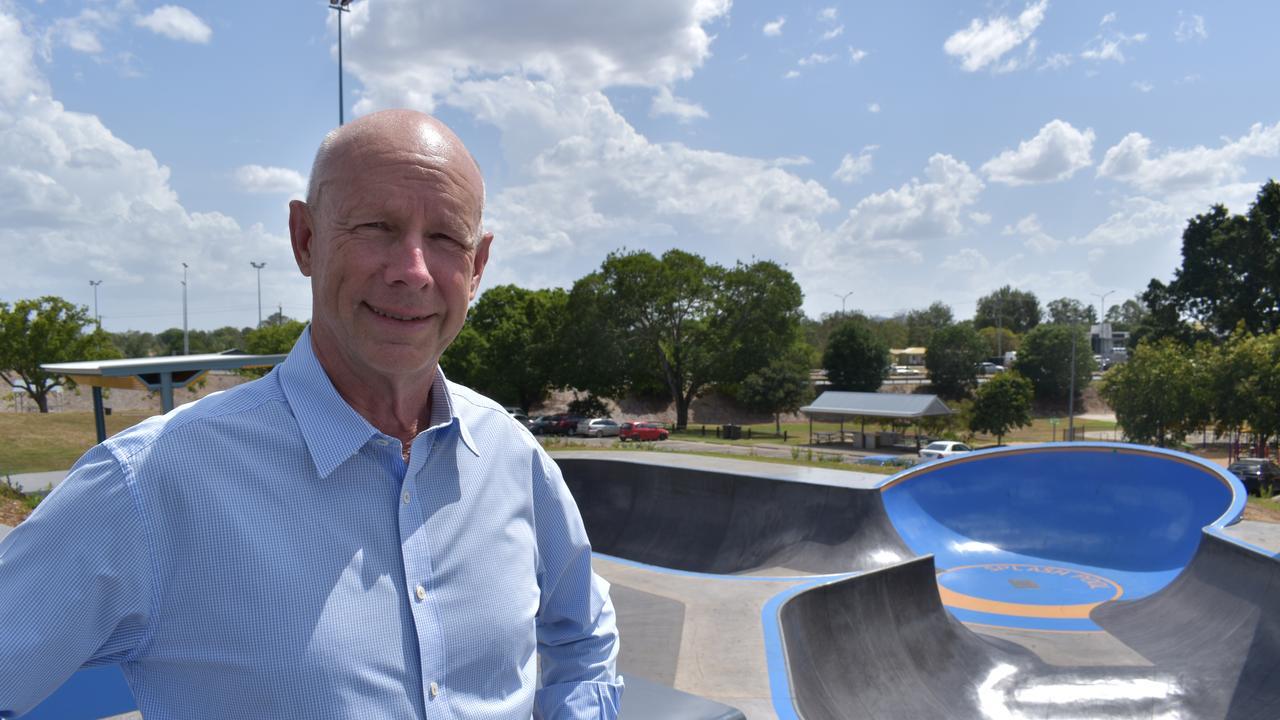 Cr Bob Fredman at Gympie's youth hub skate park.