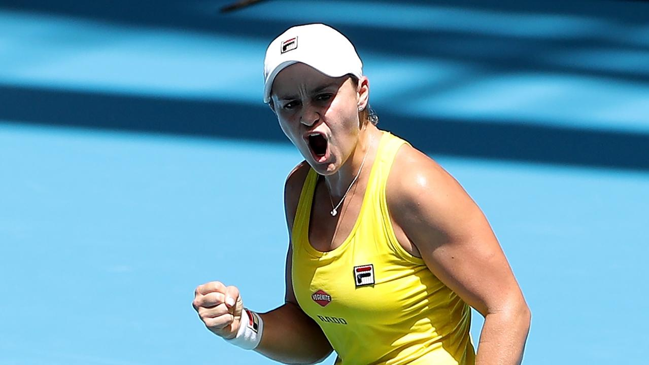 Ash Barty has won her third straight Newcombe Medal. Picture: AAP