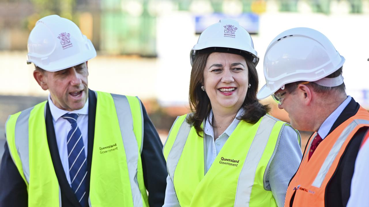 Premier Annastacia Palaszczuk and Cameron Dick MP meet with Rheinmetall CEO Armin Papperger at their new Redbank facility.