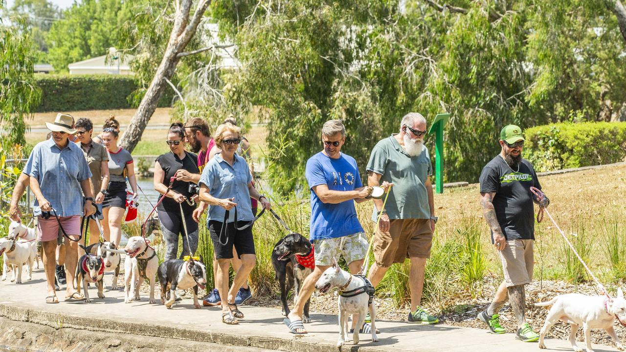 The '110 and Friends' Birthday and Walk for Freedom at Centenary Lakes Park, Caboolture, Saturday, November 30, 2019 Photo: AAP /Richard Walker
