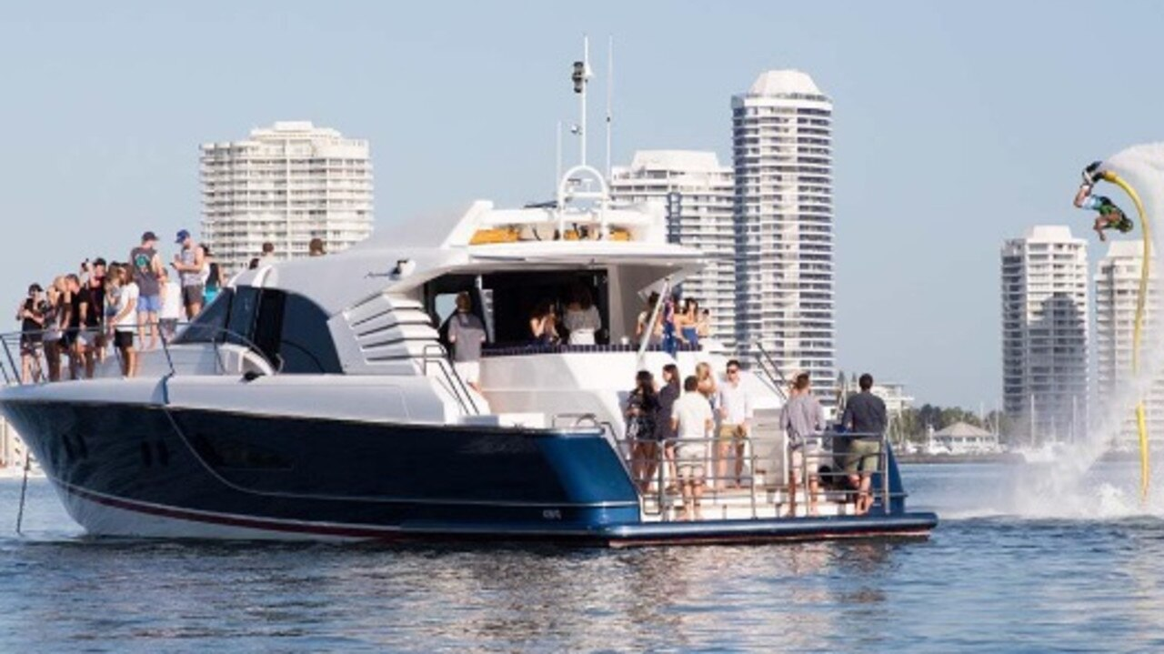 The yacht Crystal Blue was allegedly travelling three times over the six-knot speed limit on the night it ran aground. Picture: Supplied