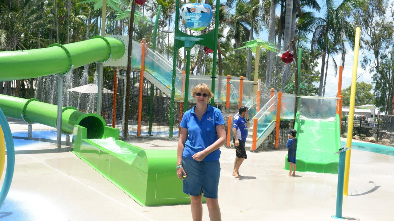 Viv Arthur Manager of Discovery Park Rockhampton at the new waterpark, opened last December.