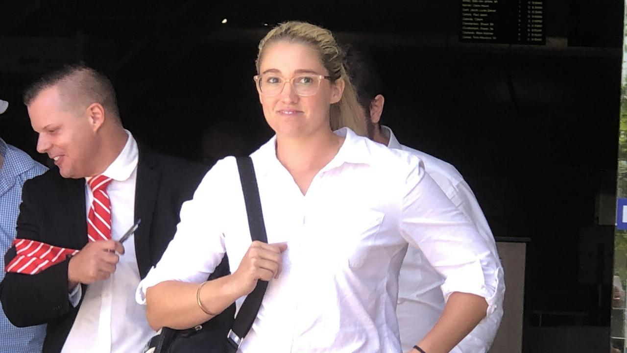 Cheya Handley outside Southport court today. Picture: Lea Emery