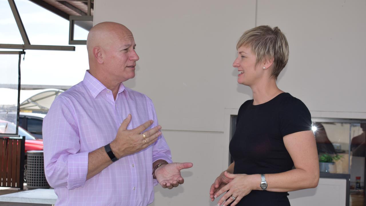 ROAD PLAN: Shadow Transport Minister Steve Minnikin and Whitsunday LNP candidate Amanda Camm