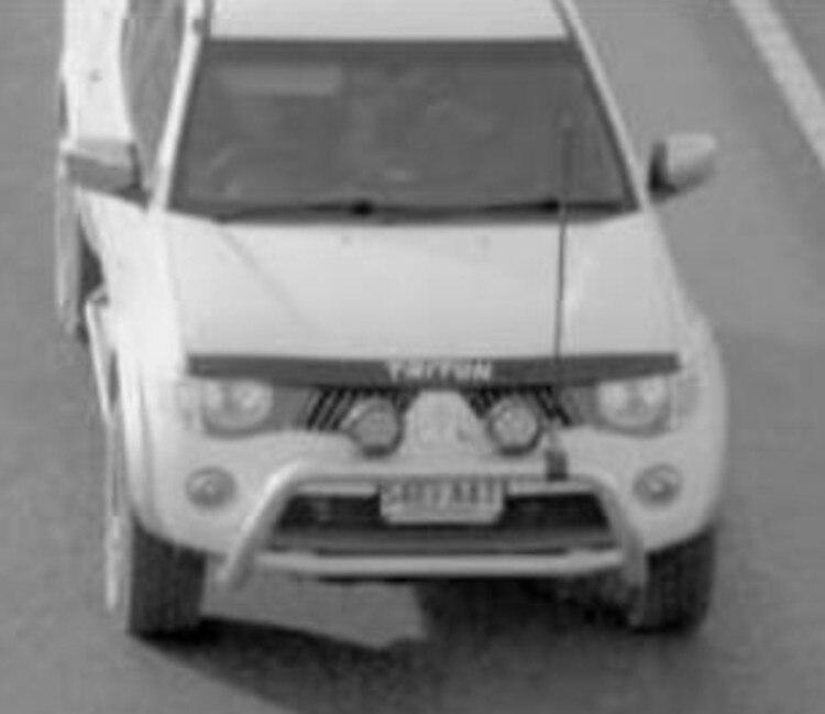 The Mitsubishi dual cab Triton ute the trio were driving. Picture: NT Police