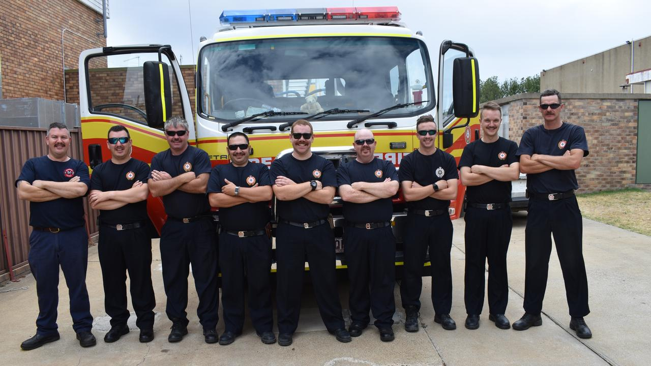 MO'S TO GO: Stanthorpe Fire Station members, Mitch Hurtz, Micheal Steffanon, Ian Barnden, Sam Maugeri, Reece Lancaster-Kelly, Andrew Bell, Nigel Eldridge, Jack Goodrich and Brendan Barker supporting the Movember initiative