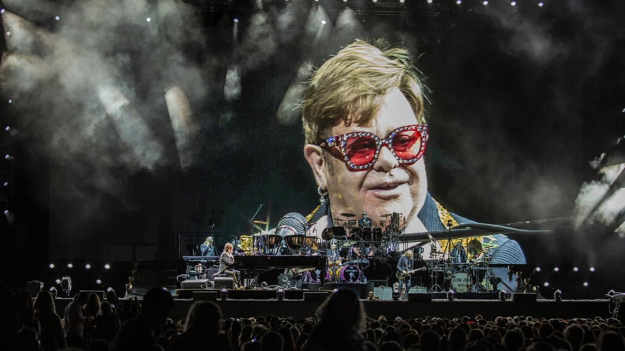 Elton John played two shows in Perth on the weekend. Picture: AAP Image/Tony McDonough