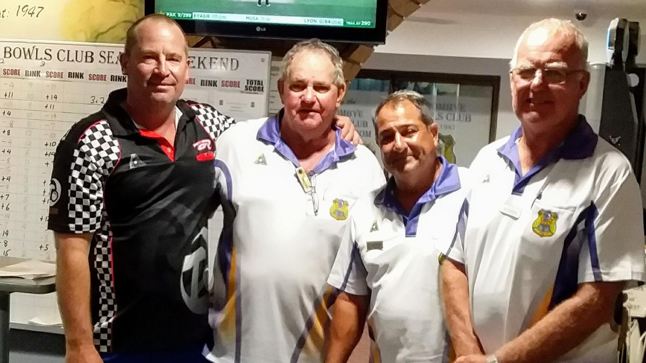 WOOMBYE WINNERS: Ian Kuss, Ivan Close, Paul Carter and Ian Cranney. Picture: Contributed.