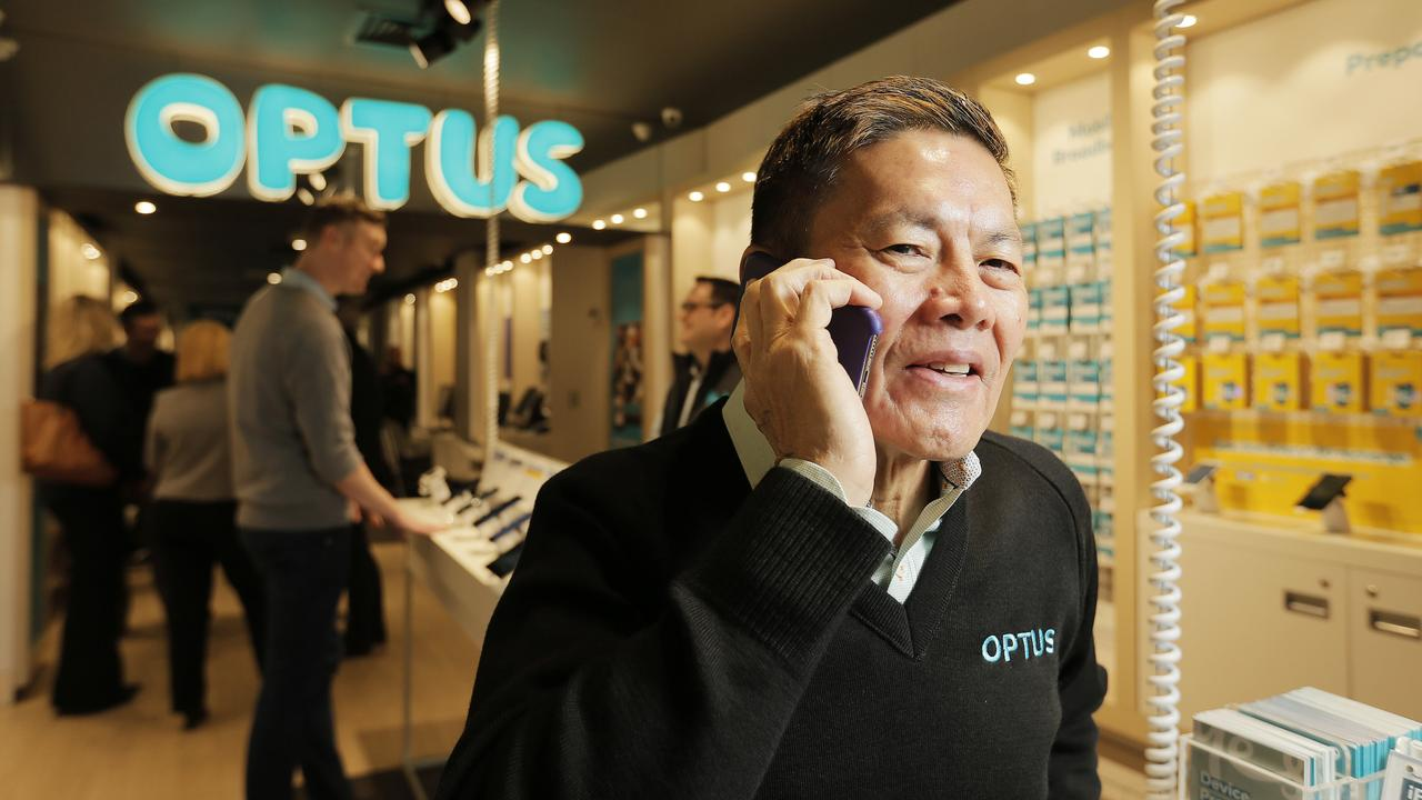 Optus, headed by CEO Allen Lew, has been penalised for misleading customers about their NBN connections again. Picture: MATHEW FARRELL