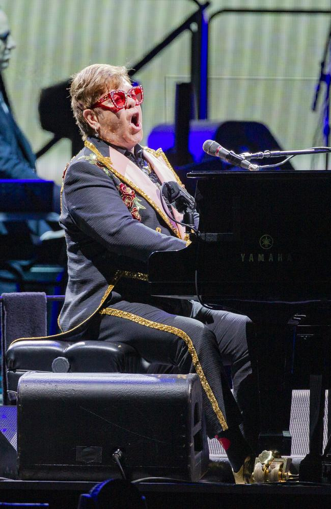 Elton John is touring Australia until March next year. Picture: AAP Image/Tony McDonough
