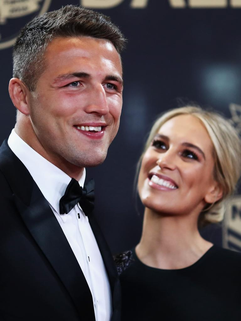 Sam and Phoebe Burgess at the 2016 Dally M Awards. Picture: Getty