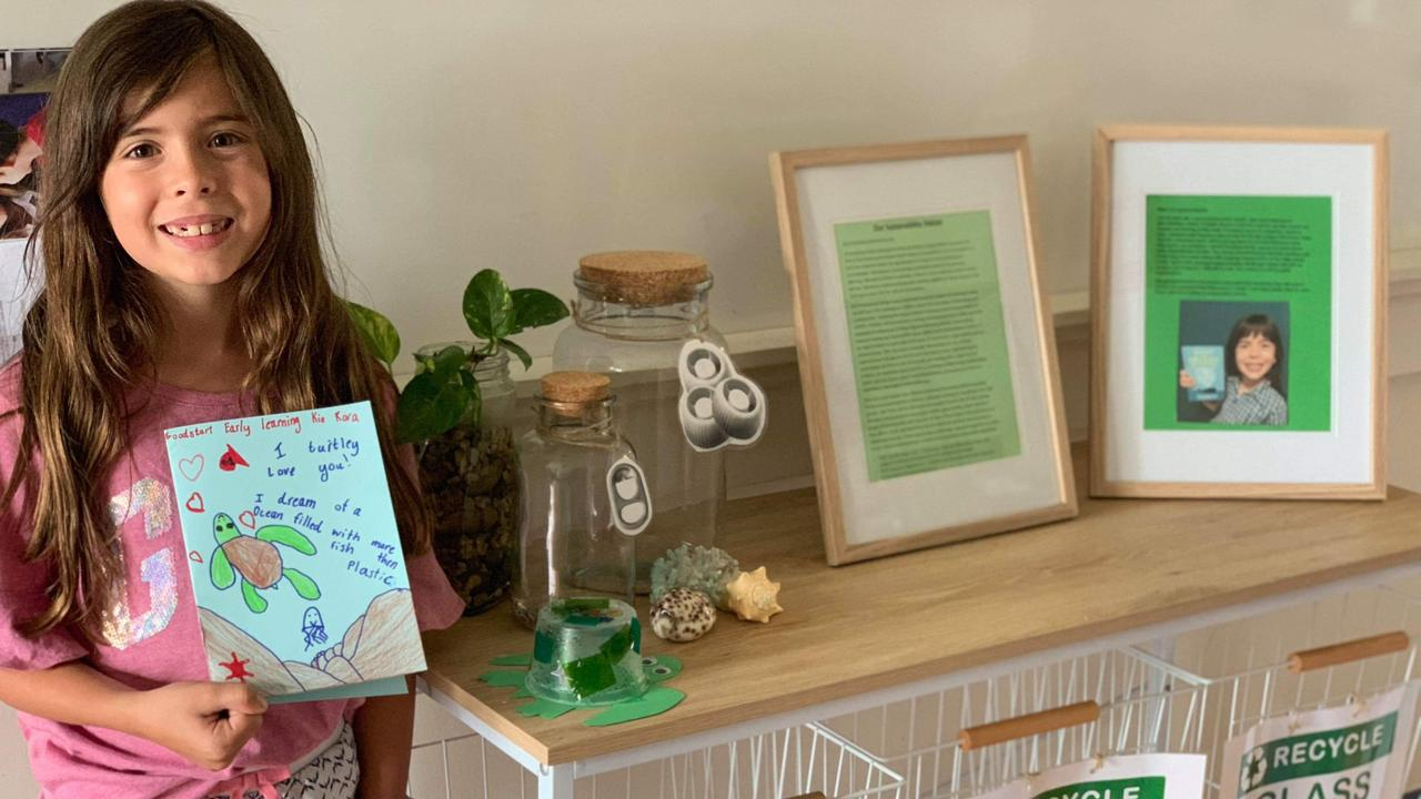 LITTLE LEGEND: Mariah Byers (9) has raised more than $1000 for Quoin Island Turtle Rehabilitation by collecting and recycling plastic.