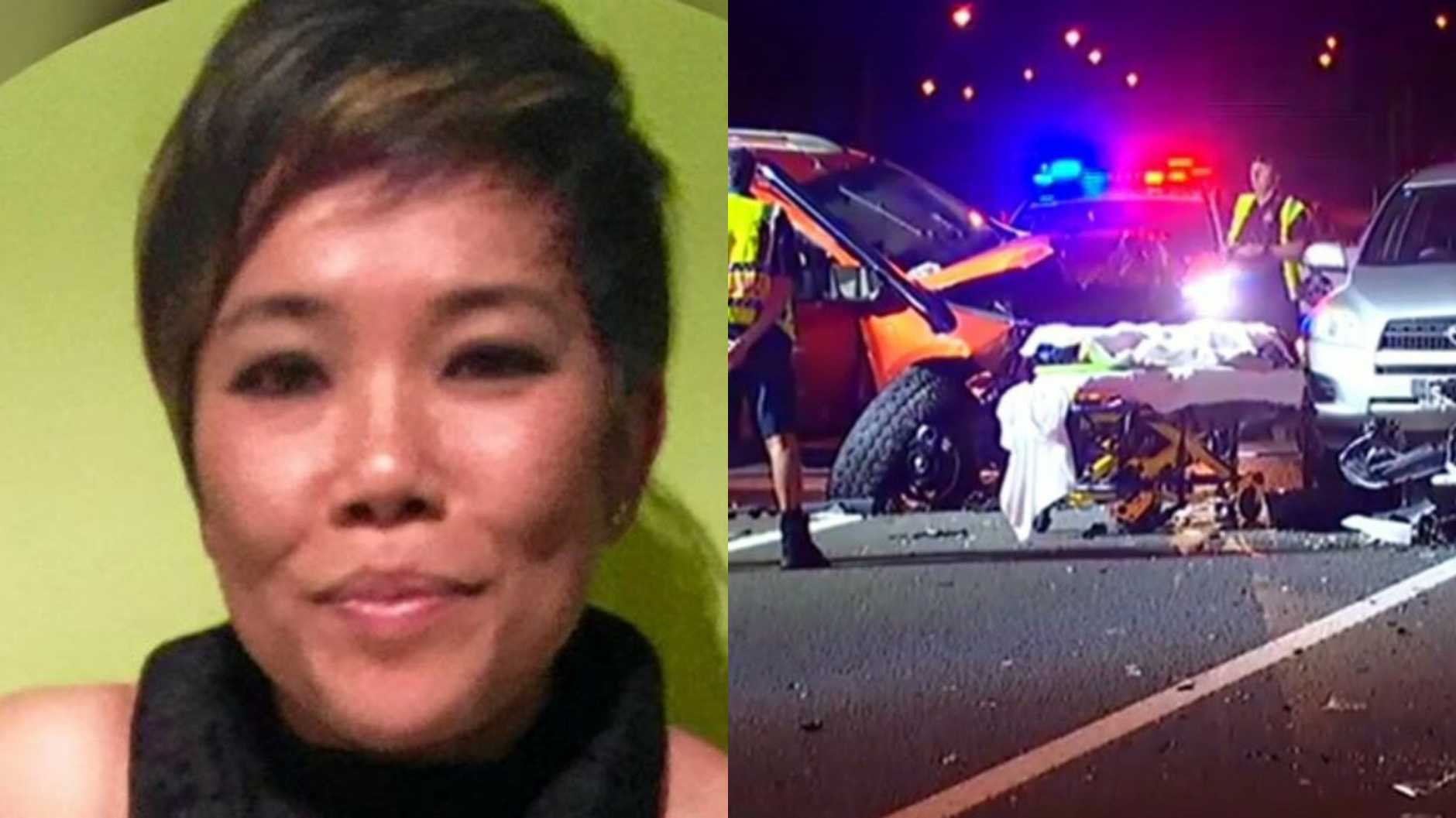James David Berns has been jailed for the death of Jirapan (Nina) Pitayaprichakul (pictured) in a crash on the Sunshine Motorway last year. Photos: 7News/Contributed