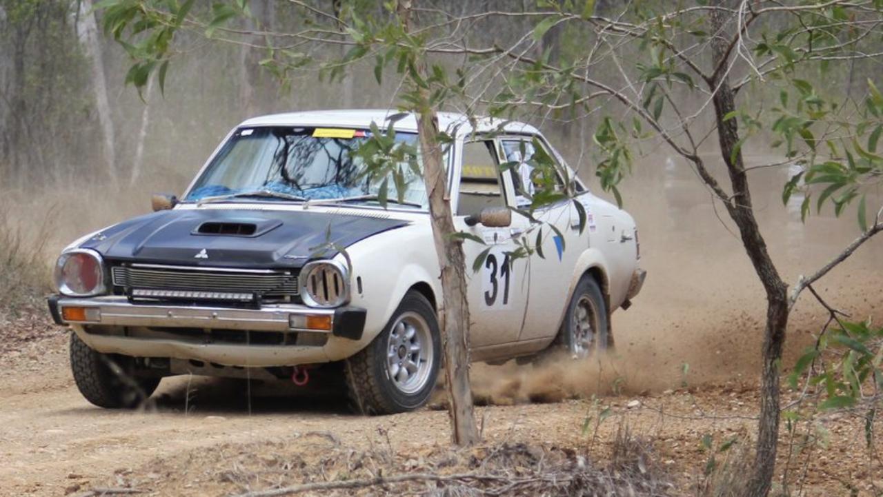 Mark Boyd negotiates thye dusty track at Benaraby. PICTIRE: Kobi Martin