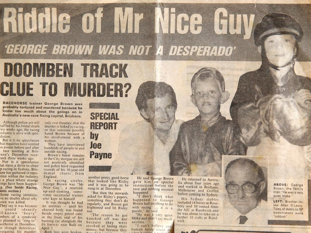 A paper clipping of George Brown. Picture: Adam Head