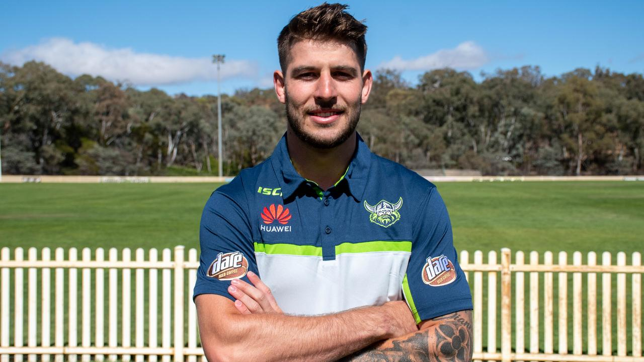 New Canberra recruit Curtis Scott settling into his new home. Picture: Canberra Raiders