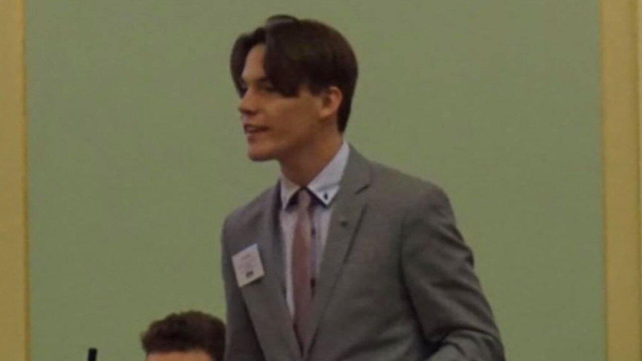 LNP volunteer Jake Scott in Queensland Parliament.