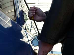 Thief cuts electricity, 'drills' way in to car dealership