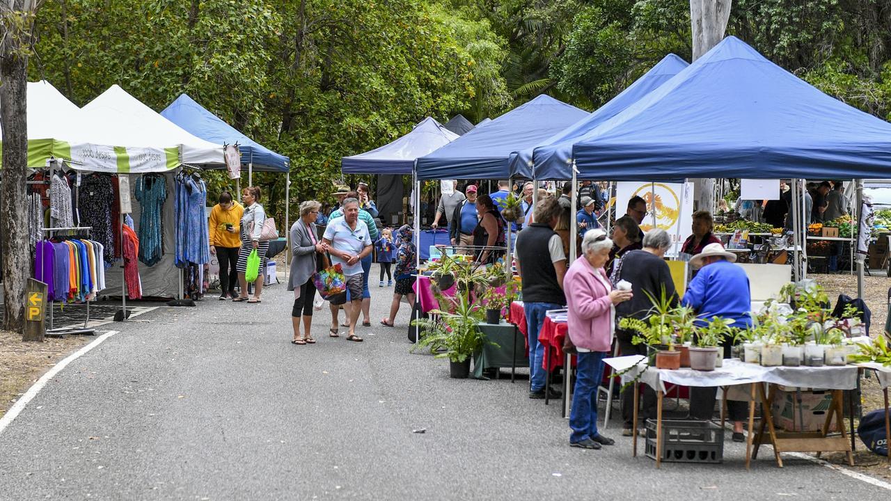 The Rotary Charity Markets held at Tondoon Botanic Gardens in July. Photo: Matt Taylor
