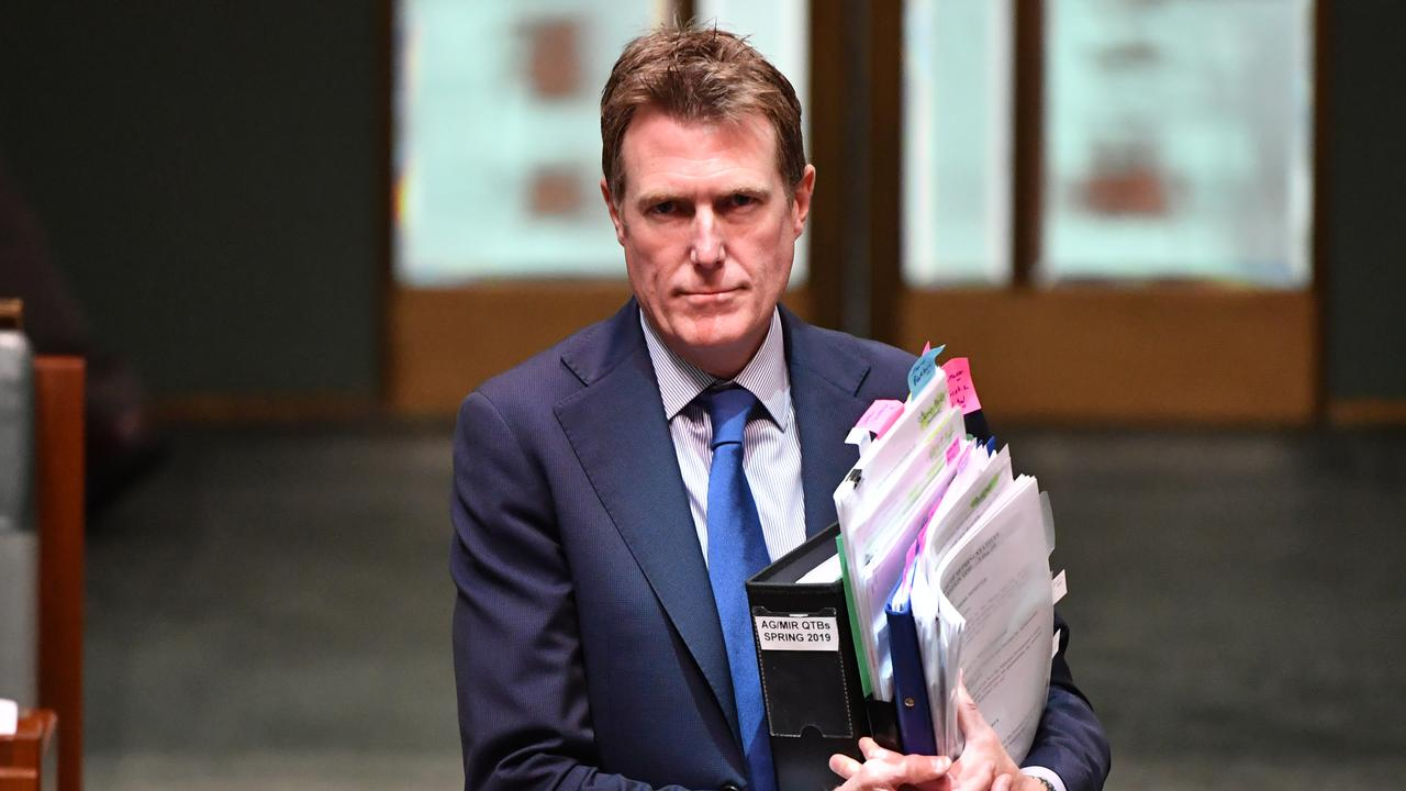 Attorney-General Christian Porter says the CFMEU has made law-breaking an art form. Picture: AAP Image/Mick Tsikas