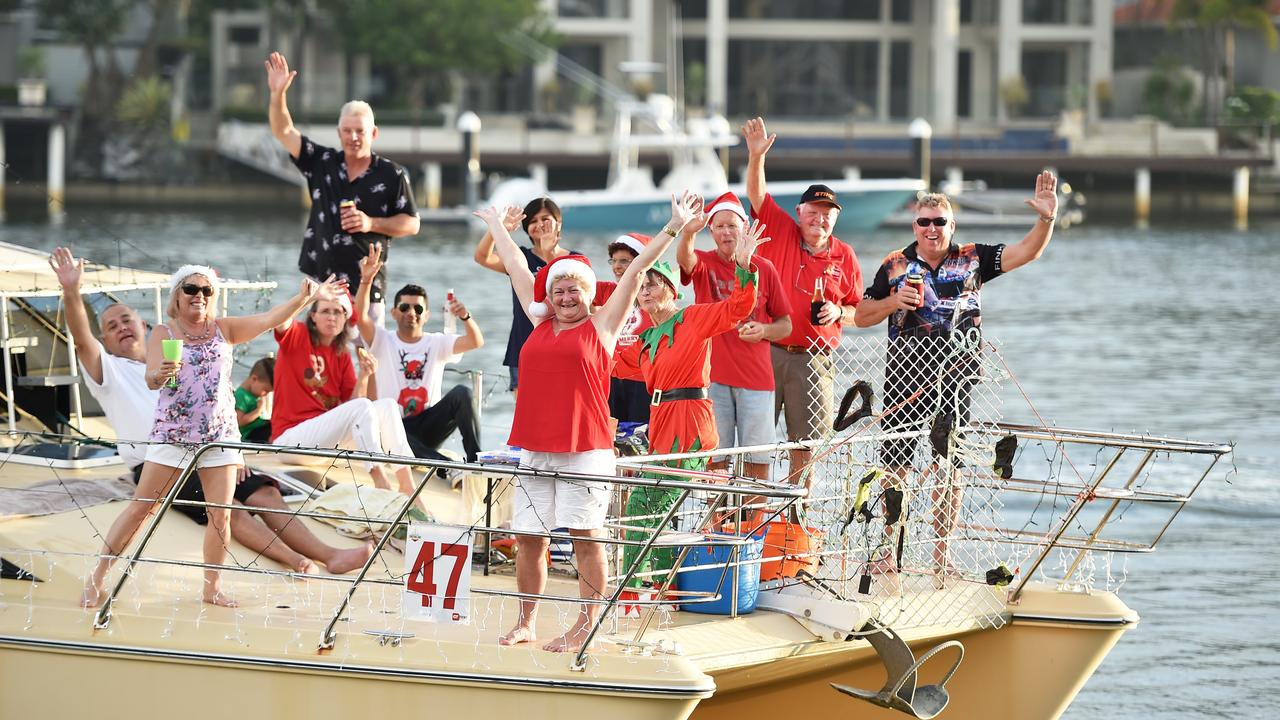 The annual Mooloolaba Christmas Boat Parade lights up the canals.