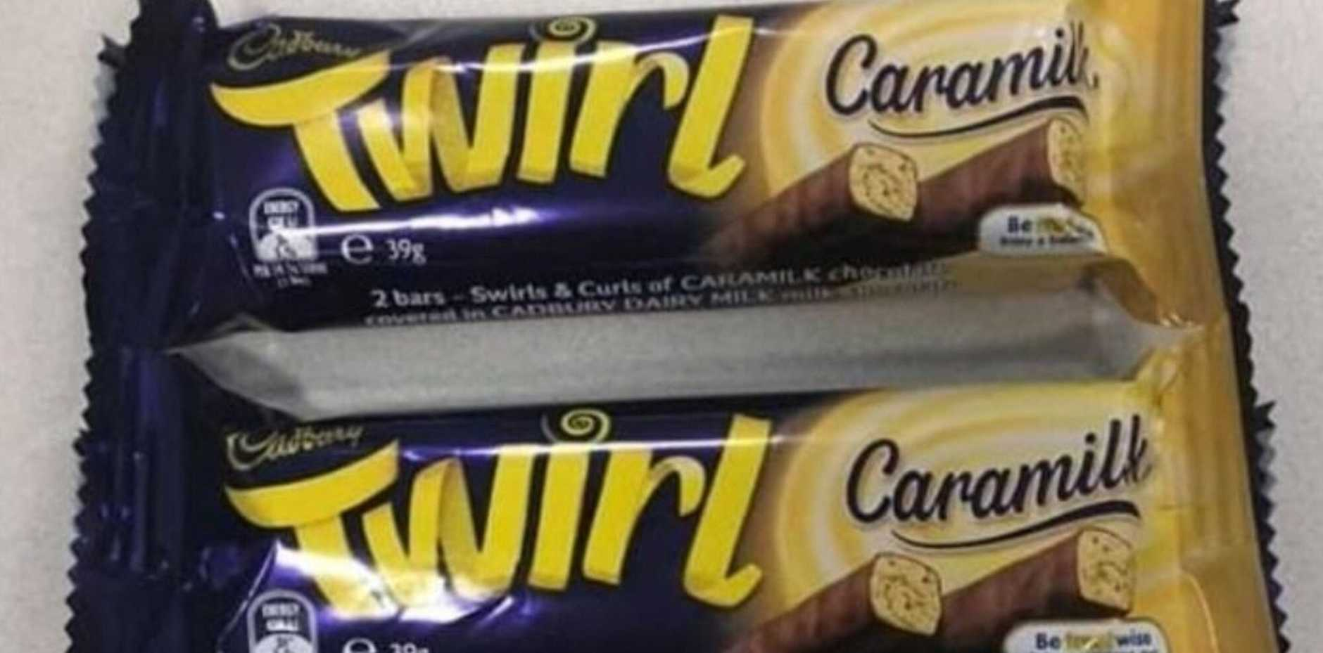 The brand is soon releasing a Twirl edition of a Caramilk bar. Picture: Twitter