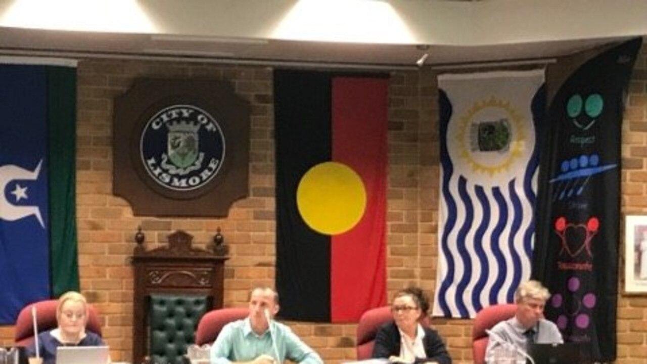 MEETING: Lismore Mayor Isaac Smith at tonight's council meeting.