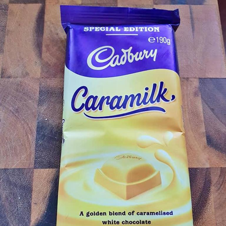 Cadbury Australia caused chaos earlier this year after bringing back its once limited-edition Caramilk block. Picture: Instagram