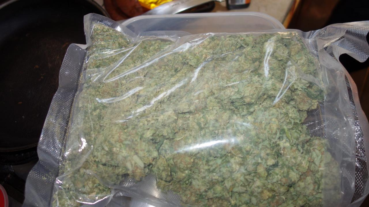 Some of the dried cannabis seized by police. Picture: Supplied, Queensland Police Service.