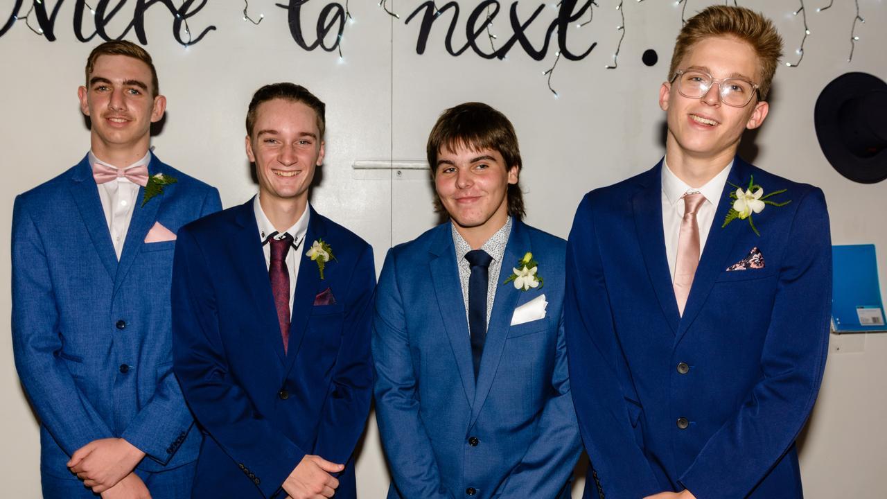 Emmaus formal: Thomas Moore, Alex Austin, Lochlin Wilson and Daniel Widt.