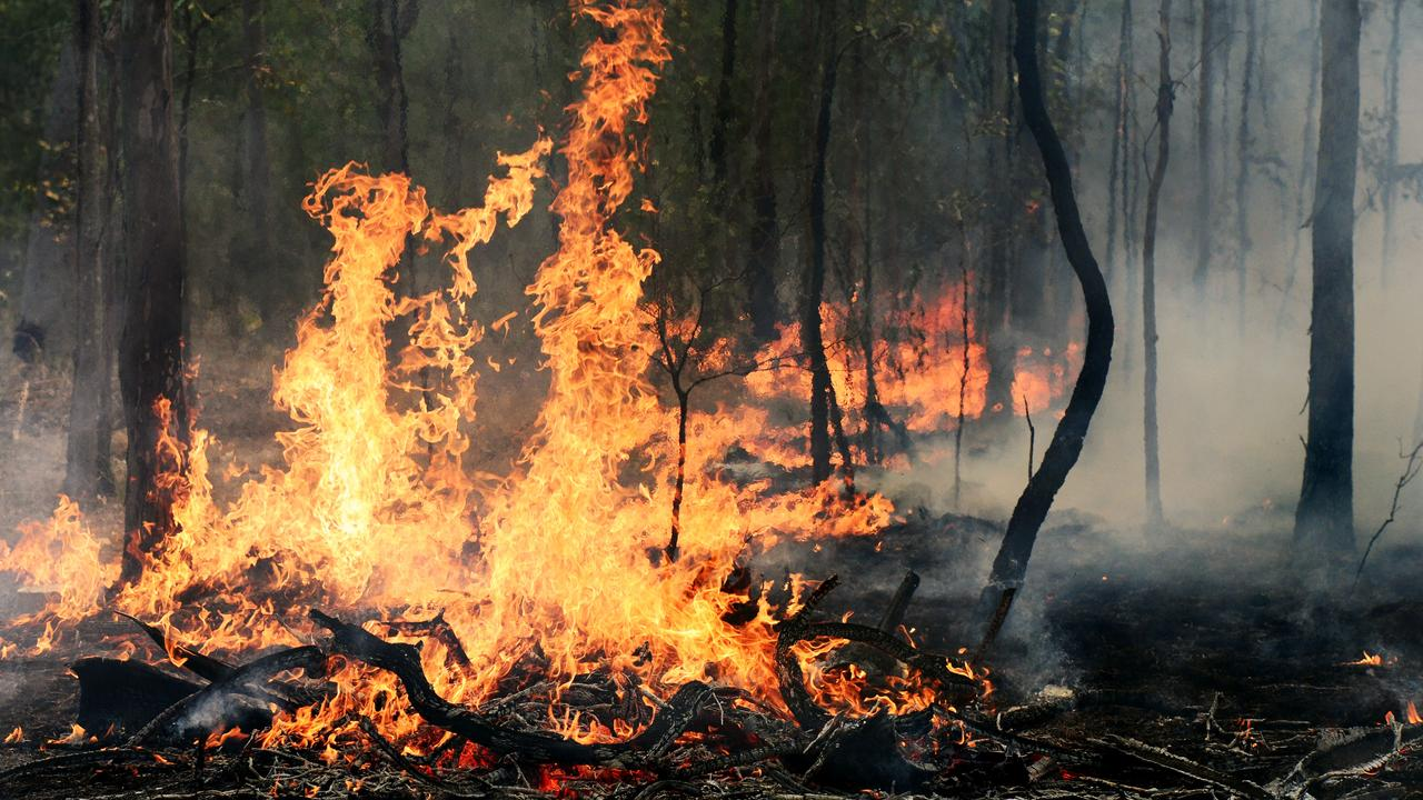 Queensland Parks and Wildlife Service crews are patrolling the Mount Stanley bushfire to ensure it is contained. Photo: David Nielsen / The Queensland Times