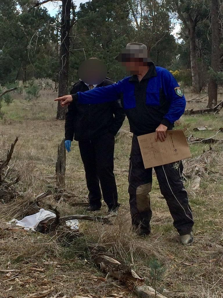 Six areas of the Lester State Forest have been searched, and Hagan has assisted police in their recovery efforts, walking them through the scene where he buried her.