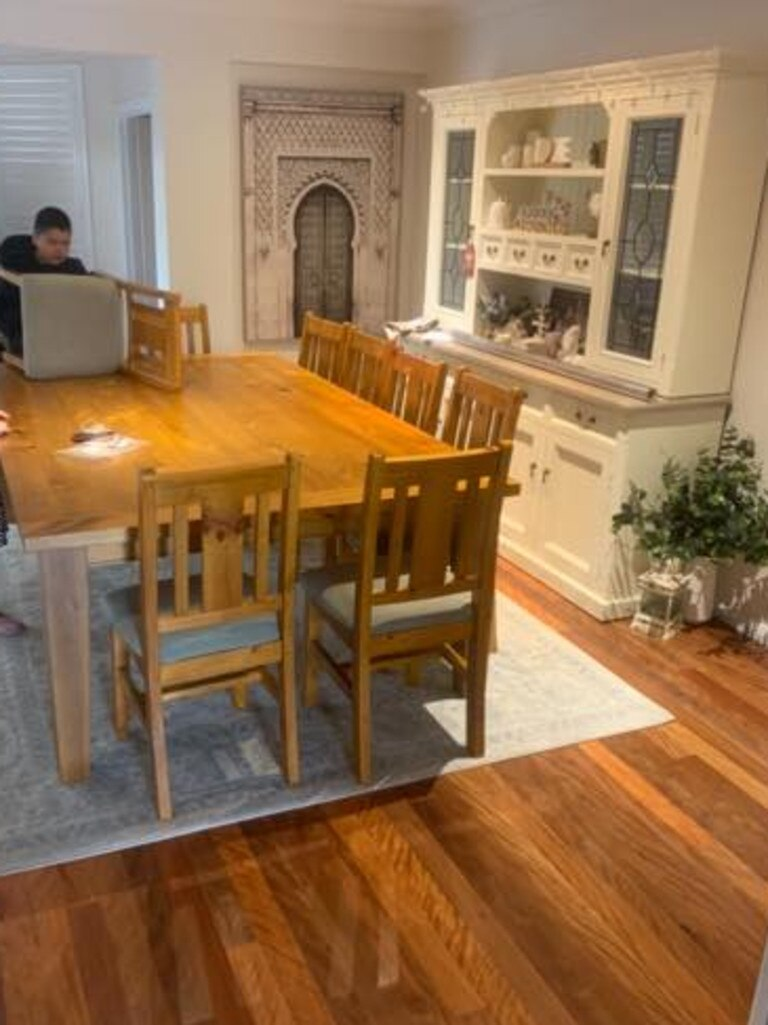The dining table and chairs. Picture: Facebook / Bunnings Mums Australia