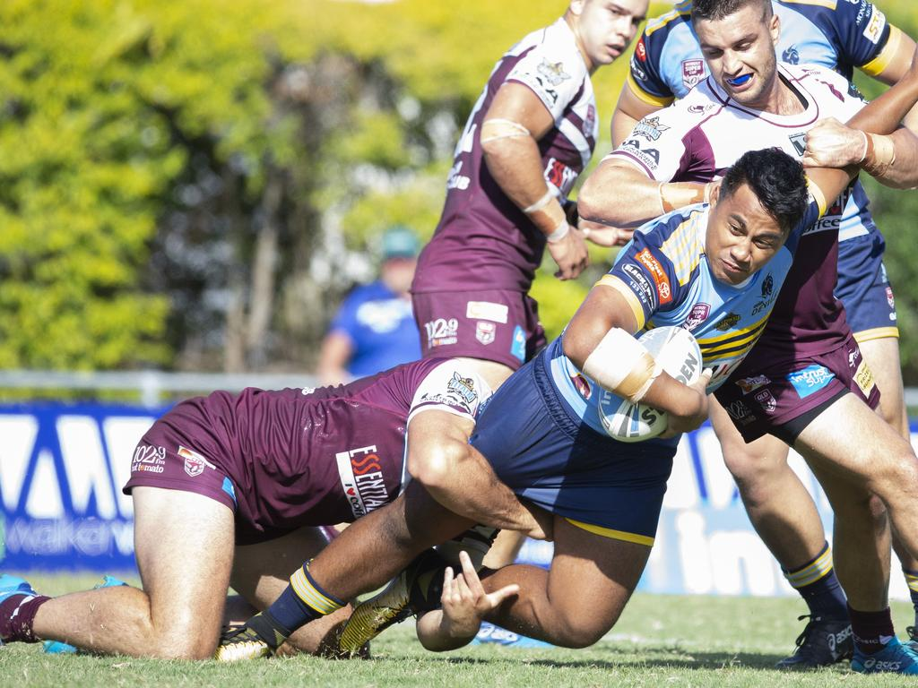 New Mackay Cutters signing Michael Molo in action for Queensland Cup rivals Norths Devils in Round 1 last season.